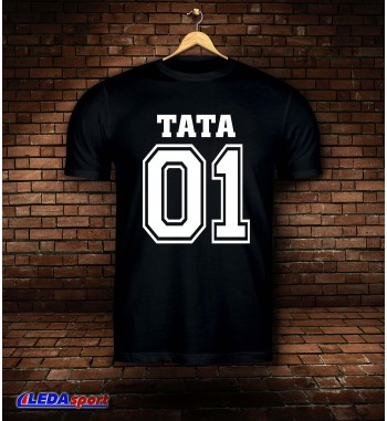 Koszulka męska czarna TATA 01