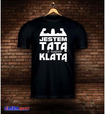 Koszulka męska czarna KLATA