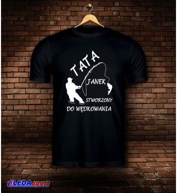 Koszulka męska czarna TATA...