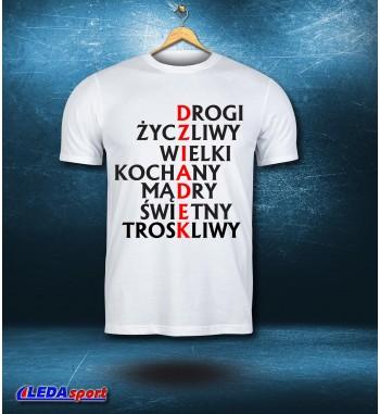 Koszulka męska biała Drogi