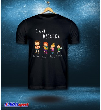 Koszulka męska czarna Gang...