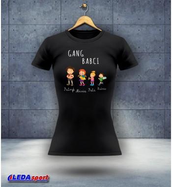 Koszulka damska czarna Gang...