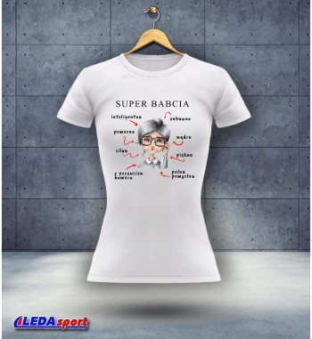 Koszulka damska biała Super...