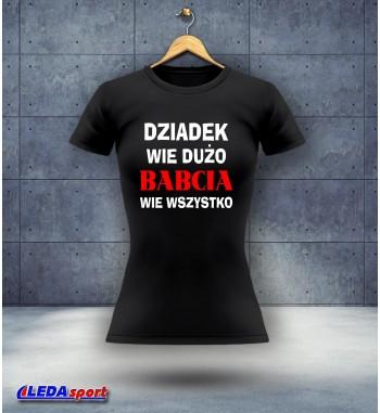 Koszulka damska czarna Wiedza