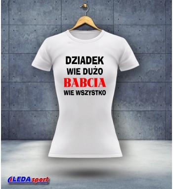 Koszulka damska biała Wiedza