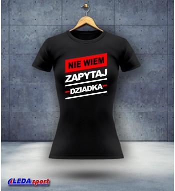 Koszulka damska czarna Zapytaj
