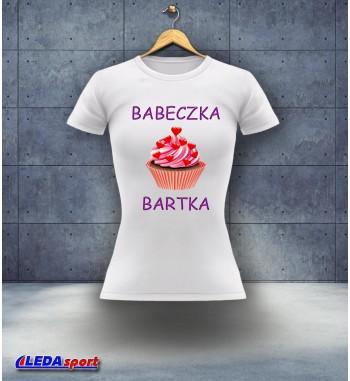 Koszulka damska biała Babeczka