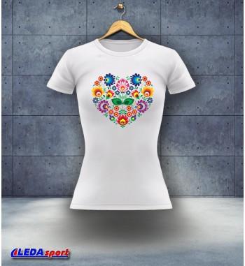 Koszulka damska biała Cepelia