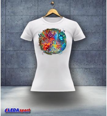 Koszulka damska biała Motylki