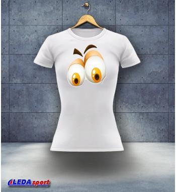 Koszulka damska biała Oczy