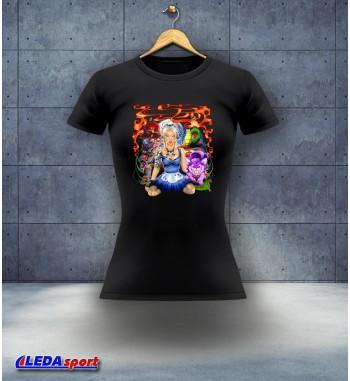 Koszulka damska czarna Alicja