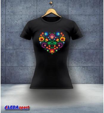 Koszulka damska czarna Cepelia