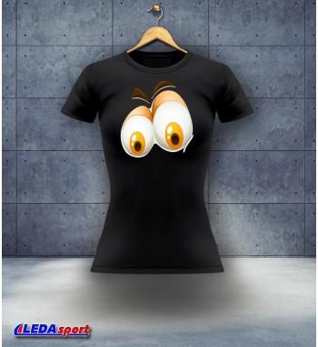 Koszulka damska czarna Oczy