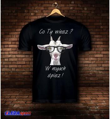 Koszulka męska czarna Koza