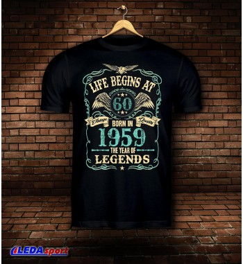 Koszulka męska czarna Legends