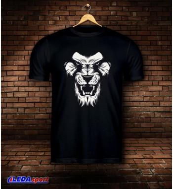 Koszulka męska czarna Lion