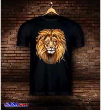 Koszulka męska czarna Lion 2