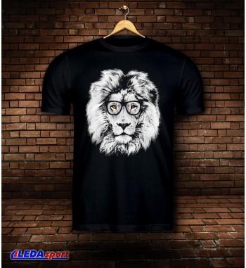 Koszulka męska czarna Lion 3