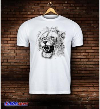 Koszulka męska biała Lion 4