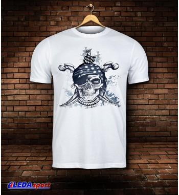 Koszulka męska biała Pirat