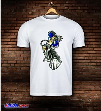 Koszulka męska biała Rock