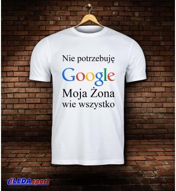 Koszulka męska biała GOOGLE